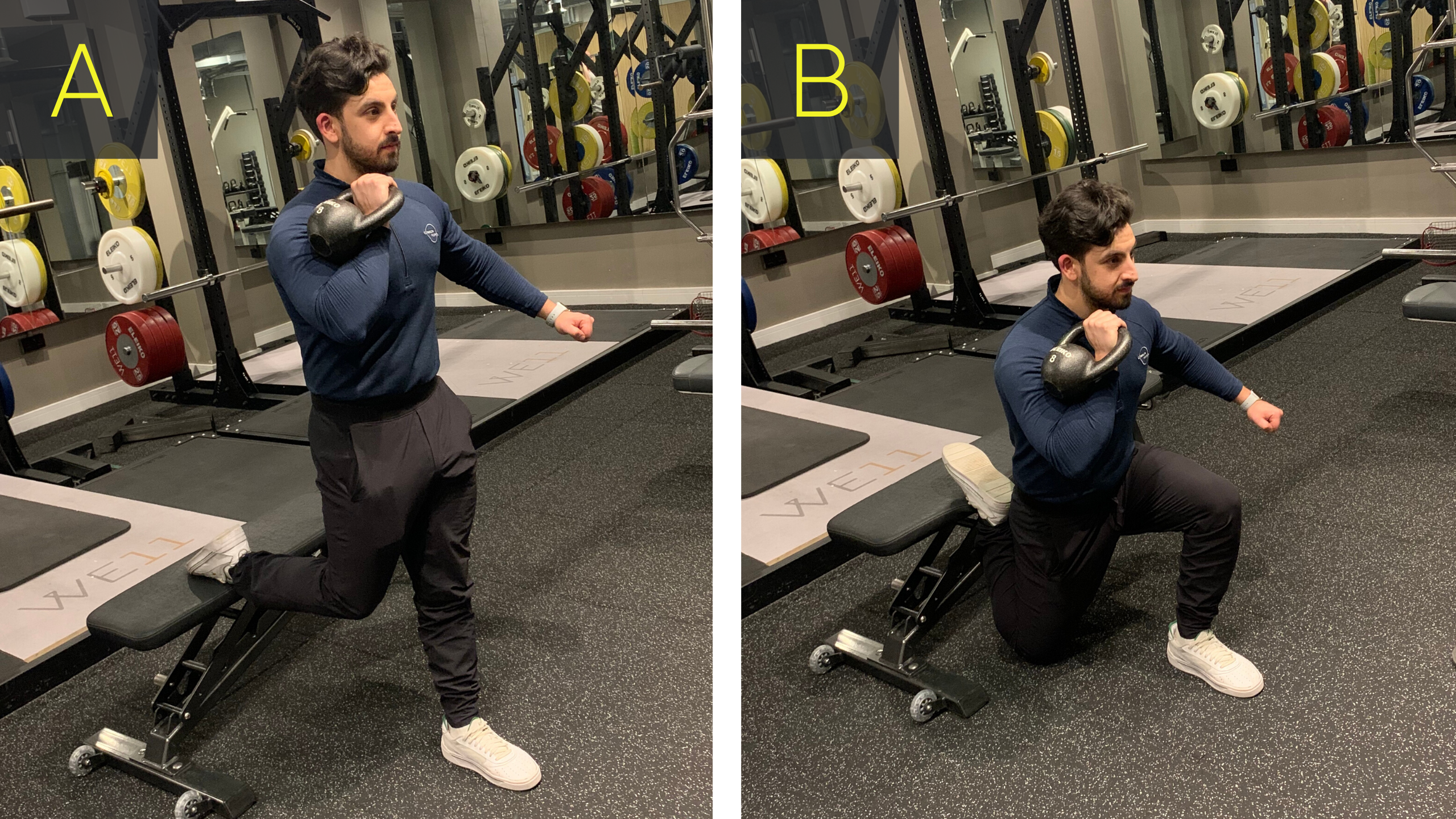 Offset KB Bulgarian Split Squat
