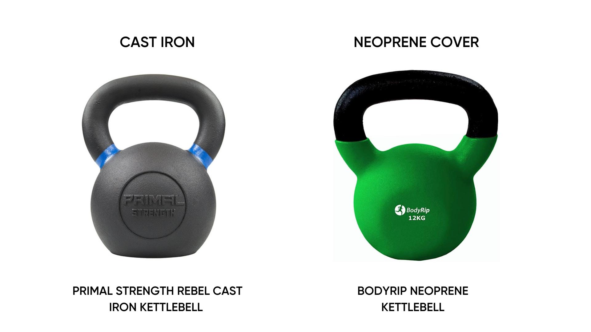 Cast Iron and Neoprene Kettlebells