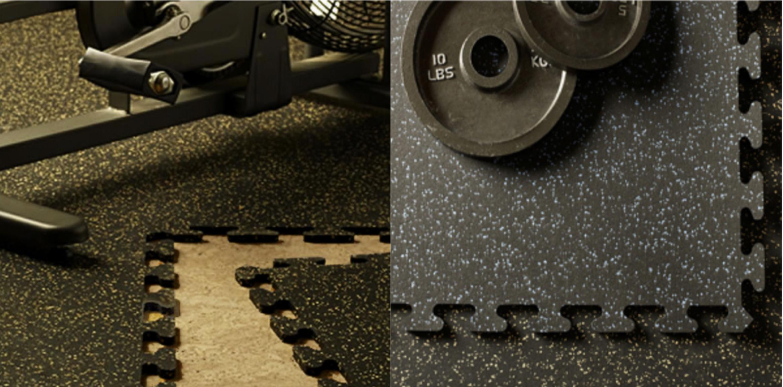 Interlocking Rubberised Flooring