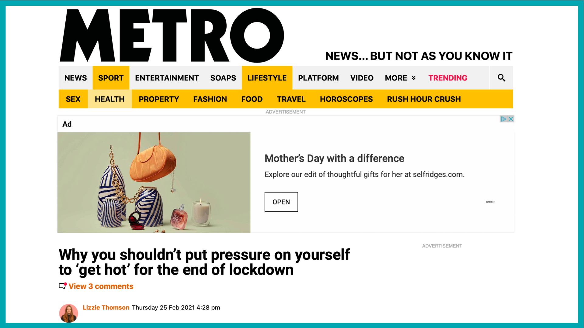 Metro Article 1